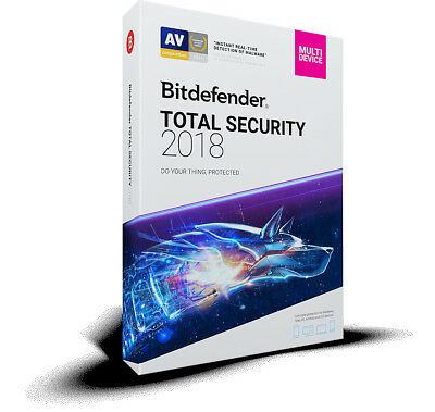 Bitdefender Total Security 2018 - 3 PC 1 Year (Central Account - eDelivery)