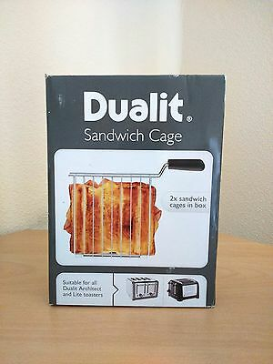 Genuine Dualit Box Of 2 Sandwich Cages For All Architect & Lite Model Toasters