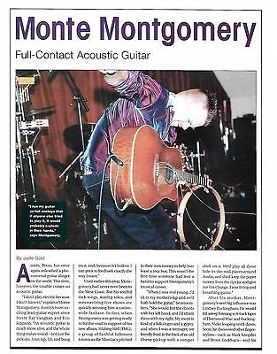 Monte Montgomery Alvarez Acoustic Guitar 2-page article with two photos