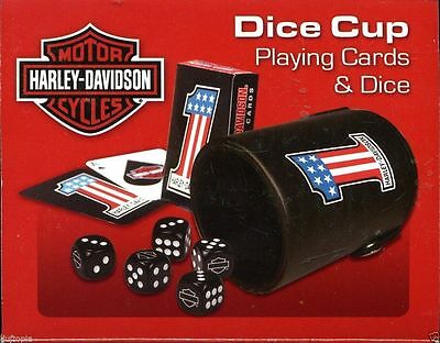Harley Dice Cup - Playing cards and dice in a Soft Foam cup 72296006090 -NIB..
