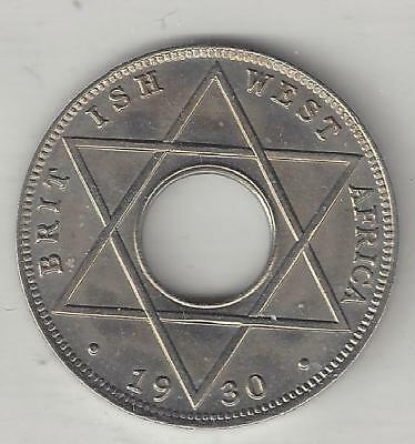 West Africa, British, 1930,1/10 Penny, Copper Nickel, Km#7, Choice Uncirculated