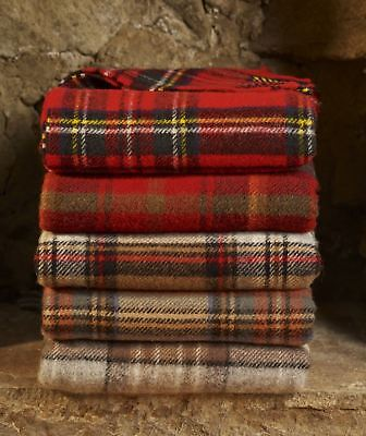 Bronte Tartan wool knee car rug British made small blanket throw Highland Tweeds