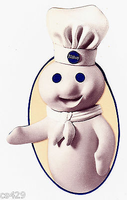 """2/"""" Pillsbury doughboy 3 apples prepasted wall border cut out character"""