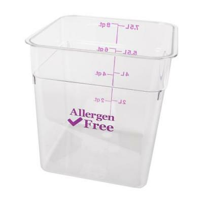 Cambro Allergen Free CamSquare Food Storage Containers - All Sizes