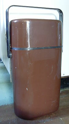1980s INSULATED BYO DECOR WINE 2 Bottle CARRIER * CHOCOLATE & BLACK