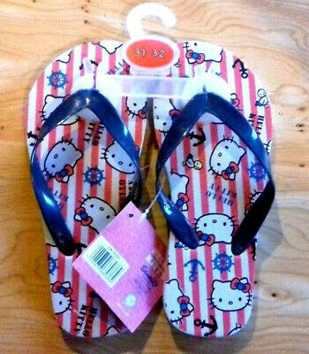 PAIRE DE TONG FILLE ENFANT pointure 31   32 CHAUSSURE HELLO KITTI NEUF RAYE 9923d6b050c5
