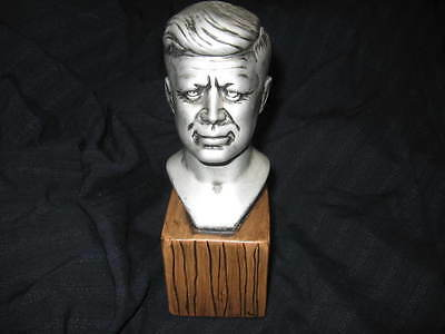 John F. Kennedy Jfk Bust Statue With Bottom Base U.s. President Excellent