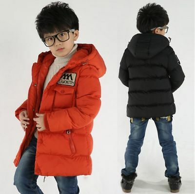 New Kids Boys Winter Hooded Warm Quilted Puffer Coat Jacket School Trendy Parka