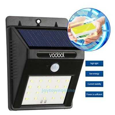 Solar Powered 20 LED Wall light Garden Lamp Waterproof Motion Sensor Security