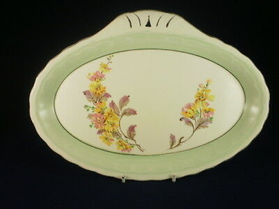 Grindley Green & White Floral Sandwich Tray