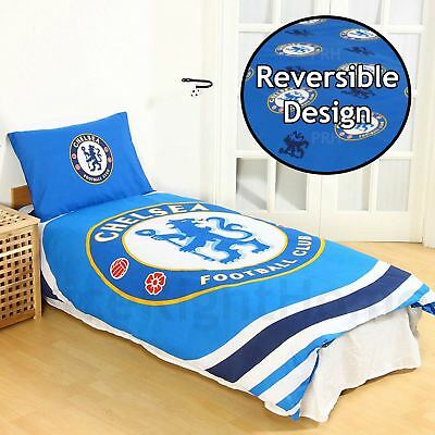 Chelsea Fc Pulse Single Duvet Cover And Pillowcase Set Official Bedding New