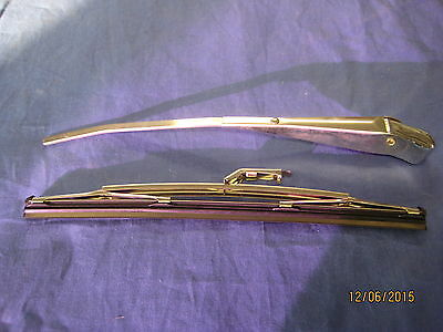 """Mg New Chrome Tex Mgb Roadster 10"""" 7 Mm Wiper Arm And Blade ***v1D"""