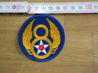 USAF Airforce US Army Ärmelabzeichen Patch Mighty Eight 8th Div Pilot Wings WWI