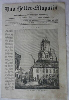 alter Stich von Boulogne - old graphik of Bologna - SH289-0518