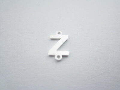 1 connettore 2 fori  lettera Z in argento 925 made in italy misure 11 x 6 mm
