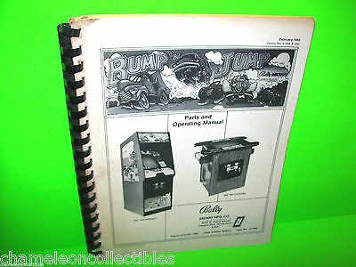 BUMP'N JUMP By MIDWAY 1983 ORIGINAL VIDEO ARCADE GAME PARTS & OPERATION MANUAL