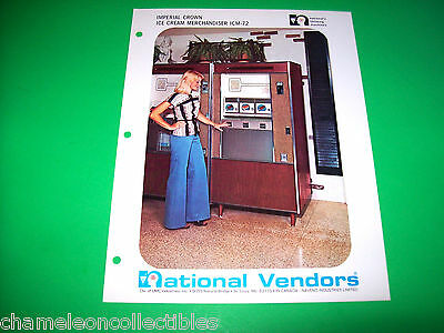 IMPERIAL CROWN ICE CREAM MERCH. ICM-72 By NATIONAL VENDORS ORIG FLYER BROCHURE