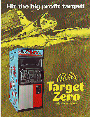Bally Target Zero Early Em Arcade Game Sales Flyer Brochure 1970