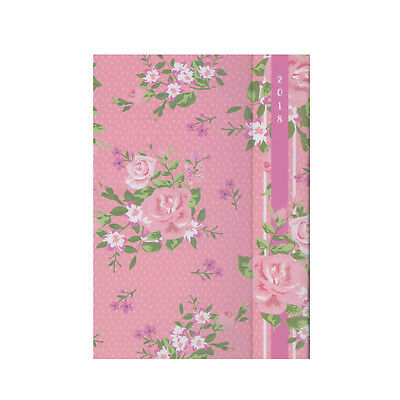 A5 Pink Floral Week to View Mum's Family Organiser Diary 2018 (2093)
