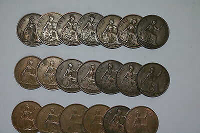 Uk Gb Penny Collection All Different A55 Zi13