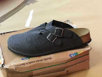 Birkis Kay Clogs Slippers Men's Size 45 Mexican Embossing Black 934761