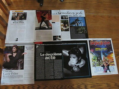 Carrie Fisher French Us  Clippings