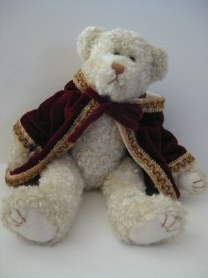 Ty Attic Treasures Collection Gem jointed Teddy Bear burgandy coat