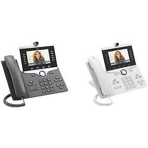NEW! Cisco 8865 Ip Phone Wired/Wireless Wall Mountable Charcoal Voip Ieee 802.11
