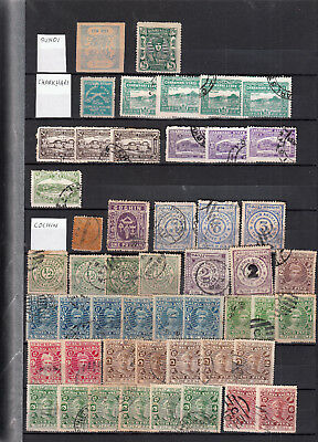 Bundi/charkari/cochin Stockpages  Values/sets Mint/used