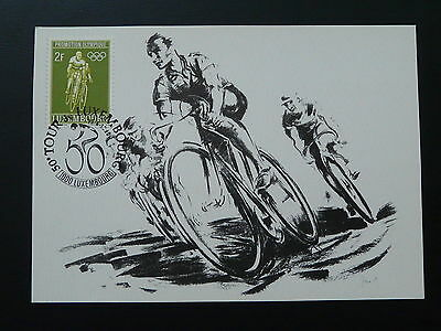 bicycle cycling Tour de France maximum card Luxembourg 1990 (2)