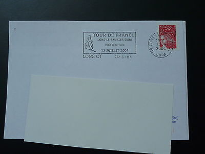 bicycle cycling Tour de France 2004 postmark on cover (2)