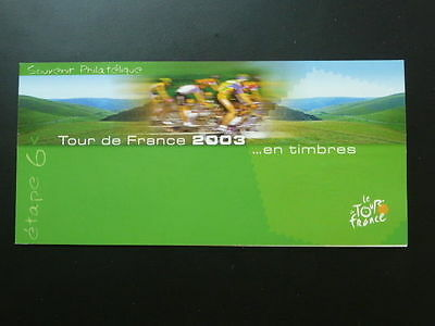 bicycle cycling Tour de France 2003 FDC folder 64201