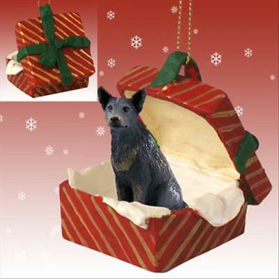 Australian Cattle Dog Blue Dog RED Gift Box Holiday Christmas ORNAMENT