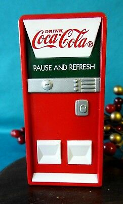Rare Coca Cola Ornament 1997 Pause & Refresh  Polar Bear Collection Vending Mach
