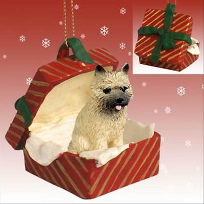 Cairn Terrier Red Dog RED Gift Box Holiday Christmas ORNAMENT