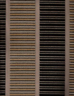 16.75 yards S. Harris Silk Velvet Upholstery Fabric Gold Black Stripe QQ3
