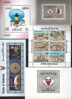 Bahrain 1982 1999 Collection Of 18 Different Sheetlets & Souvenir Sheet All Neve