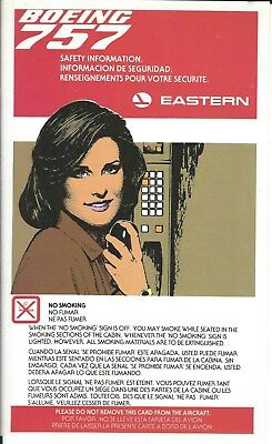 Safety Card - Eastern - B757 - c1982  (S3801)