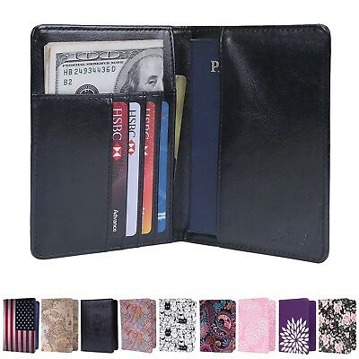 Travel Passport Holder Wallet RFID Blocking Card Case Cover Document Organizer