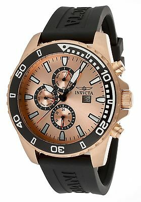 NEW Invicta 10924 Men's Specialty Watch Analog Date Chronograph Rose Gold SS Wr
