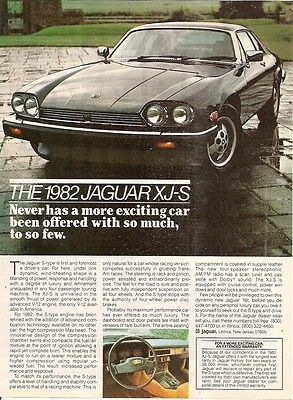 Jaguar XJ-S S Type V12 Driver's Car 1981 Vintage Advert