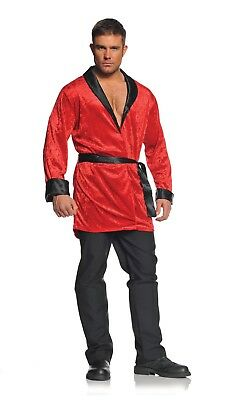 Red Smoking Jacket Adult One Size Fits Most