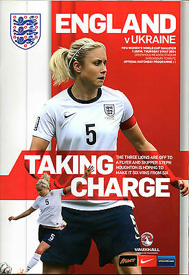 ENGLAND v UKRAINE,   Womens World Cup Qualifier   8th May 2014 @ Shrewsbury Town