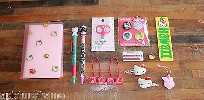 Lot of 16 Vintage Hello Kitty Three Apples Collectable Stationary & Accessories