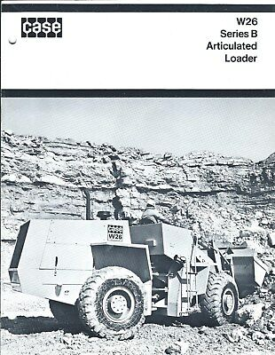 Equipment Brochure - Case - W26 B - Wheel Loader - c1970 - 2 items (E3816)