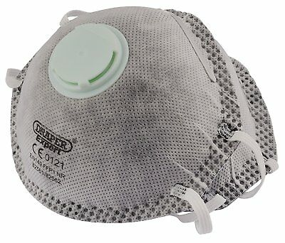 Draper Tools FM-FFP1-CH2 NR Masks With Charcoal Activated Filter For Painting of