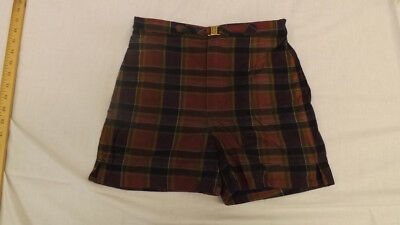 Vtg 60s NOS McGregor Swin Suit sz 16 Plaid Board Trunks NEW Zipper/Buckle Front
