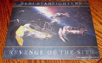 STAR WARS Revenge Of The Sith JEDI STARFIGHTERS LENTICULAR 3D POSTER Photo 8X10