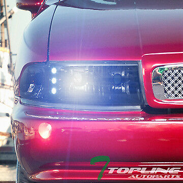 8000K Hid Bi-Xenon+Smoke Led Head Light Signal Corner Am Aw 91-96 Caprice/impala
