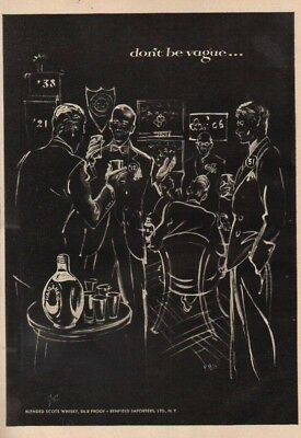 1952 Haig Scotch Whiskey Class Reunion Vintage 50s College RBW Ad MMXV